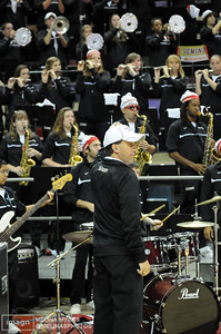 Seminole Sound plays a song during ESPN College Gameday's live broadcast from Tallahassee before the start of the FSU vs. UNC Basketball game held on Jan. 14th.