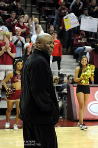 Coach Leonard Hamilton smiles during ESPN College Gameday's live broadcast from Tallahassee before the start of the FSU vs. UNC Basketball game held on Jan. 14th.