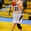 Fitchburg State's Tara Ingram lines up her shot during Saturday's game against Fisher College.<br /> SENTINEL & ENTERPRISE / BRETT CRAWFORD