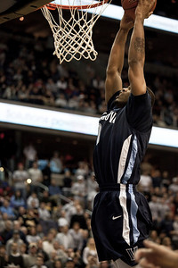 Villanova's Antonio Peña goes in for the dunk