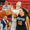 Shikellamy's Rebekah Amerman has her shot blocked by Benton's Evie Bowman during Saturday's game in Sunbury.