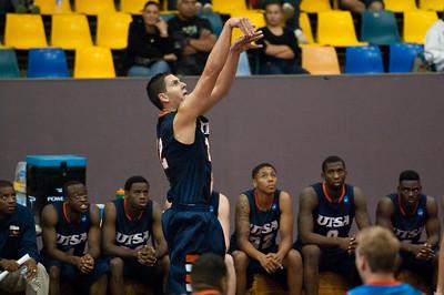 Jeromie Hill - NBL Pre Season Basketball: Gold Coast Blaze v University of Texas San Antonio; Carrara, Gold Coast, Queensland, Australia. Photos by Des Thureson:  http://disci.smugmug.com.