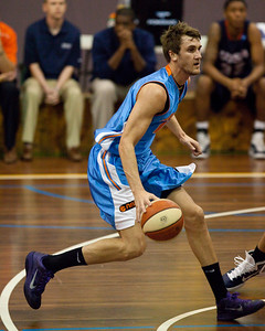 Zac Carter - NBL Pre Season Basketball: Gold Coast Blaze v University of Texas San Antonio; Carrara, Gold Coast, Queensland, Australia. Photos by Des Thureson:  http://disci.smugmug.com.