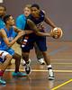 "Jamal Robateau, Kannan Burrage - NBL Pre Season Basketball: Gold Coast Blaze v University of Texas San Antonio; Carrara, Gold Coast, Queensland, Australia. Photos by Des Thureson:  <a href=""http://disci.smugmug.com"">http://disci.smugmug.com</a>."