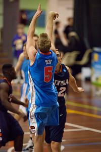 Brendan Teys - NBL Pre Season Basketball: Gold Coast Blaze v University of Texas San Antonio; Carrara, Gold Coast, Queensland, Australia. Photos by Des Thureson:  http://disci.smugmug.com.
