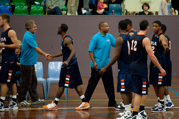 Kannan Burrage, Joey Wright, Ron Ratliff - NBL Pre Season Basketball: Gold Coast Blaze v University of Texas San Antonio; Carrara, Gold Coast, Queensland, Australia. Photos by Des Thureson:  http://disci.smugmug.com.