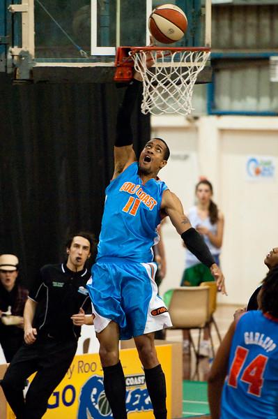 """Kenny Barnes - NBL Pre Season Basketball: Gold Coast Blaze v University of Texas San Antonio; Carrara, Gold Coast, Queensland, Australia. Photos by Des Thureson:  <a href=""""http://disci.smugmug.com"""">http://disci.smugmug.com</a>."""