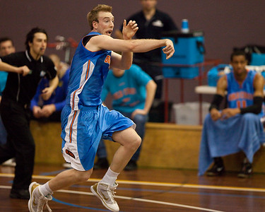 Brendan Teys with the bullet pass - NBL Pre Season Basketball: Gold Coast Blaze v University of Texas San Antonio; Carrara, Gold Coast, Queensland, Australia. Photos by Des Thureson:  http://disci.smugmug.com.