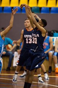 Melvin Johnson III - NBL Pre Season Basketball: Gold Coast Blaze v University of Texas San Antonio; Carrara, Gold Coast, Queensland, Australia. Photos by Des Thureson:  http://disci.smugmug.com.