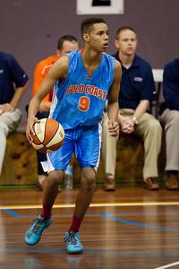 Jamal Robateau - NBL Pre Season Basketball: Gold Coast Blaze v University of Texas San Antonio; Carrara, Gold Coast, Queensland, Australia. Photos by Des Thureson:  http://disci.smugmug.com.