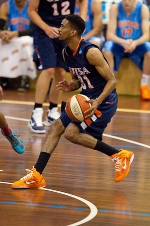 Melvin Johnson III - NBL Pre Season Basketball: Gold Coast Blaze v University of Texas San Antonio; Carrara, Gold Coast, Queensland, Australia. Photos by Des Thureson:  http://disci.smugmug.com.