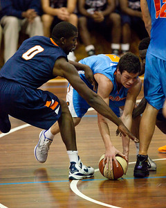 Jason Cadee, Mike White - NBL Pre Season Basketball: Gold Coast Blaze v University of Texas San Antonio; Carrara, Gold Coast, Queensland, Australia. Photos by Des Thureson:  http://disci.smugmug.com.