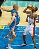 "Ron Howard v James Harvey - Gold Coast Blaze v Adelaide 36ers NBL Basketball; Queensland, Australia; Sunday 13 February 2011. Photos by Des Thureson:  <a href=""http://disci.smugmug.com"">http://disci.smugmug.com</a>"