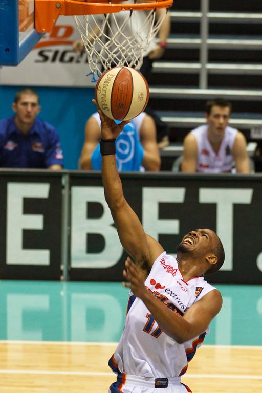 "Ron Howard - Gold Coast Blaze v Adelaide 36ers NBL Basketball; Queensland, Australia; Sunday 13 February 2011. Photos by Des Thureson:  <a href=""http://disci.smugmug.com"">http://disci.smugmug.com</a>"