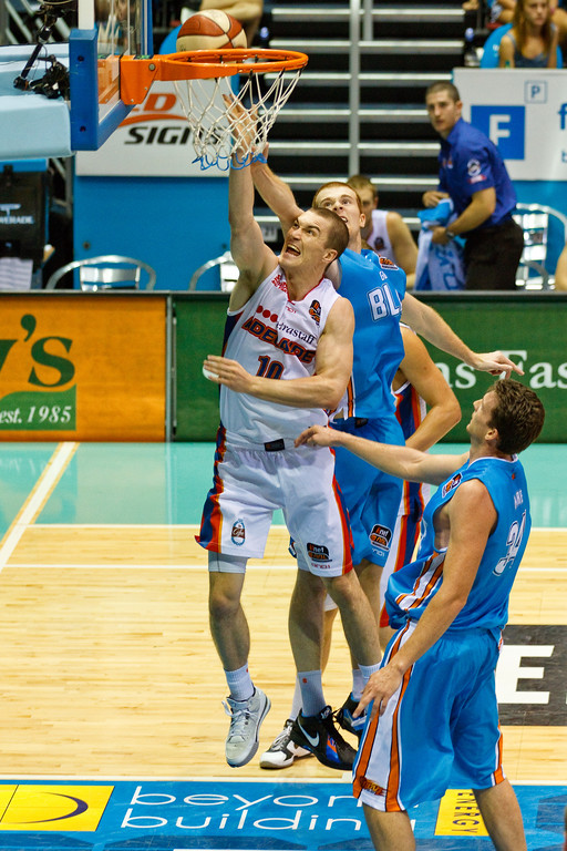 "Jeff Dowdell - Gold Coast Blaze v Adelaide 36ers NBL Basketball; Queensland, Australia; Sunday 13 February 2011. Photos by Des Thureson:  <a href=""http://disci.smugmug.com"">http://disci.smugmug.com</a>"