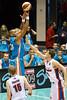 "Ira Clark v Daniel Johnson - Gold Coast Blaze v Adelaide 36ers NBL Basketball; Queensland, Australia; Sunday 13 February 2011. Photos by Des Thureson:  <a href=""http://disci.smugmug.com"">http://disci.smugmug.com</a>"