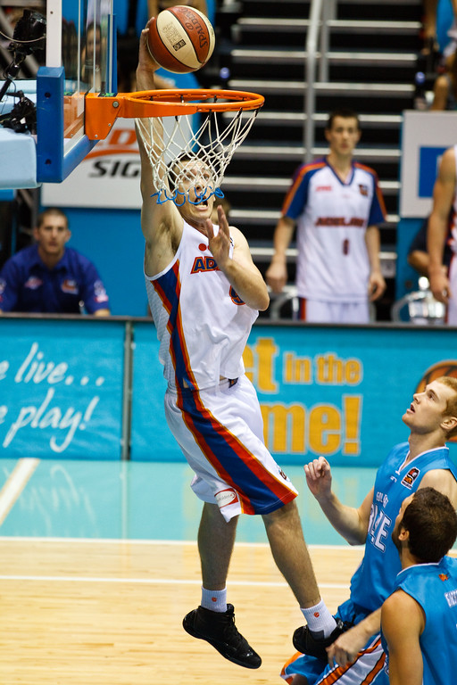 """Brad Hill - Gold Coast Blaze v Adelaide 36ers NBL Basketball; Queensland, Australia; Sunday 13 February 2011. Photos by Des Thureson:  <a href=""""http://disci.smugmug.com"""">http://disci.smugmug.com</a>"""