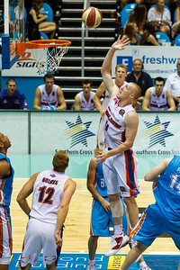 Adam Ballinger - Gold Coast Blaze v Adelaide 36ers NBL Basketball; Queensland, Australia; Sunday 13 February 2011. Photos by Des Thureson:  http://disci.smugmug.com