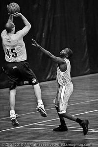"Dusty Rychart - Gold Coast Blaze v Cairns Taipans pre-season NBL basketball game, Saturday 18 September 2010, Carrara, Gold Coast, Australia. Alternate Processing - LR Preset: ""Stark Raging Black Curve""."