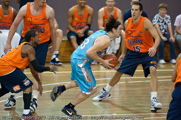 Chris Goulding - Gold Coast Blaze v Cairns Taipans pre-season NBL basketball game, Saturday 18 September 2010, Carrara, Gold Coast, Australia.