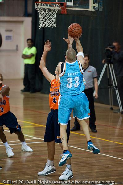 James Harvey - Gold Coast Blaze v Cairns Taipans pre-season NBL basketball game, Saturday 18 September 2010, Carrara, Gold Coast, Australia.