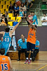 Debra George shoots one of his many high-percentage 3-pointers for the night. - Gold Coast Blaze v Cairns Taipans pre-season NBL basketball game, Saturday 18 September 2010, Carrara, Gold Coast, Australia.