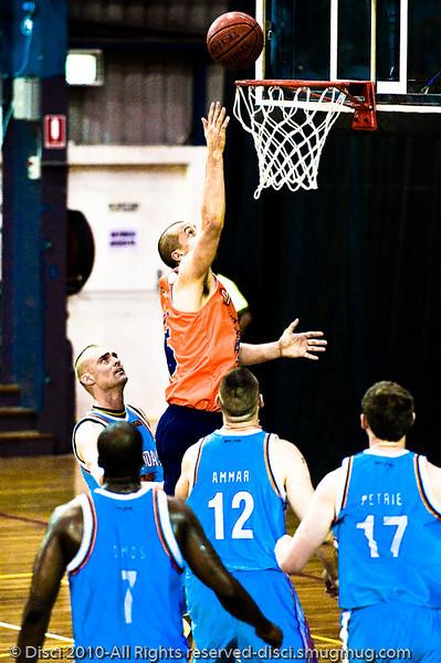 "Dusty Rychart inside - Gold Coast Blaze v Cairns Taipans pre-season NBL basketball game, Saturday 18 September 2010, Carrara, Gold Coast, Australia. Alternate Processing - LR Preset: ""Bleached+ Bypassed""."