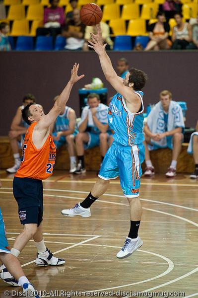 Adam Gibson - Gold Coast Blaze v Cairns Taipans pre-season NBL basketball game, Saturday 18 September 2010, Carrara, Gold Coast, Australia.