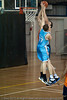 """""""Get that thing out of here!"""" - Anthony Petrie elevates straight p for the clean block on Alex Loughton - Gold Coast Blaze v Cairns Taipans pre-season NBL basketball game, Saturday 18 September 2010, Carrara, Gold Coast, Australia."""