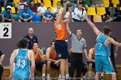 Alex Loughton - Gold Coast Blaze v Cairns Taipans pre-season NBL basketball game, Saturday 18 September 2010, Carrara, Gold Coast, Australia.