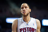 Dec 5, 2012; Auburn Hills, MI, USA; Detroit Pistons small forward Tayshaun Prince (22) during the second quarter against the Golden State Warriors at The Palace. Mandatory Credit: Tim Fuller-USA TODAY Sports