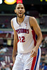 Dec 5, 2012; Auburn Hills, MI, USA; Detroit Pistons small forward Tayshaun Prince (22) during the fourth quarter against the Golden State Warriors at The Palace.The Warriors defeated the Pistons 104-97. Mandatory Credit: Tim Fuller-USA TODAY Sports
