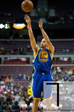 Dec 5, 2012; Auburn Hills, MI, USA; Golden State Warriors point guard Stephen Curry (30) during the first quarter against the Detroit Pistons at The Palace. Mandatory Credit: Tim Fuller-USA TODAY Sports