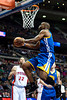 Dec 5, 2012; Auburn Hills, MI, USA; Golden State Warriors power forward Carl Landry (7) goes to the basket against the Detroit Pistons during the second quarter at The Palace. Mandatory Credit: Tim Fuller-USA TODAY Sports