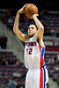 Dec 5, 2012; Auburn Hills, MI, USA; Detroit Pistons small forward Tayshaun Prince (22) during the third quarter against the Golden State Warriors at The Palace.The Warriors defeated the Pistons 104-97. Mandatory Credit: Tim Fuller-USA TODAY Sports