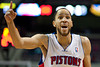Dec 5, 2012; Auburn Hills, MI, USA; Detroit Pistons small forward Tayshaun Prince (22) argues a call during the fourth quarter against the Golden State Warriors at The Palace.The Warriors defeated the Pistons 104-97. Mandatory Credit: Tim Fuller-USA TODAY Sports