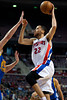 Dec 5, 2012; Auburn Hills, MI, USA; Detroit Pistons small forward Tayshaun Prince (22) goes to the basket against the Golden State Warriors during the fourth quarter at The Palace.The Warriors defeated the Pistons 104-97. Mandatory Credit: Tim Fuller-USA TODAY Sports