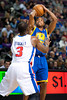 Dec 5, 2012; Auburn Hills, MI, USA; Golden State Warriors point guard Jarrett Jack (2) during the second quarter against the Detroit Pistons at The Palace. Mandatory Credit: Tim Fuller-USA TODAY Sports