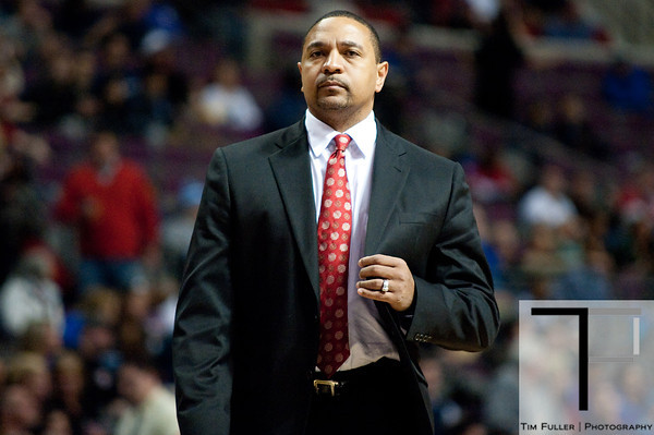 Dec 5, 2012; Auburn Hills, MI, USA; Golden State Warriors head coach Mark Jackson during the second quarter against the Detroit Pistons at The Palace. Mandatory Credit: Tim Fuller-USA TODAY Sports