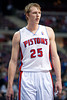 Dec 5, 2012; Auburn Hills, MI, USA; Detroit Pistons small forward Kyle Singler (25) during the third quarter against the Golden State Warriors at The Palace.The Warriors defeated the Pistons 104-97. Mandatory Credit: Tim Fuller-USA TODAY Sports