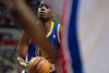 Dec 5, 2012; Auburn Hills, MI, USA; Golden State Warriors power forward Carl Landry (7) shoots a free throw during the second quarter against the Detroit Pistons at The Palace. Mandatory Credit: Tim Fuller-USA TODAY Sports