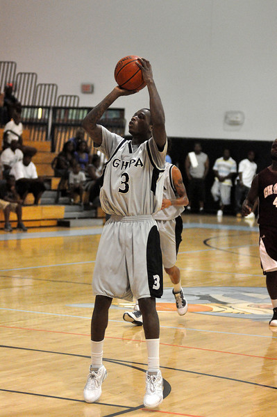Steve Samuels takes a shot in Sunday nights game. (7/18/2010)