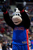 Mar 9, 2012; Auburn Hills, MI, USA; Detroit Pistons mascot Hooper during the game against the Atlanta Hawks at The Palace. Mandatory Credit: Tim Fuller-US PRESSWIRE
