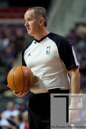 Mar 9, 2012; Auburn Hills, MI, USA; NBA referee Scott Wall (31) during the game between the Detroit Pistons and the Atlanta Hawks at The Palace. Mandatory Credit: Tim Fuller-US PRESSWIRE