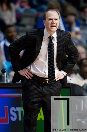 Mar 9, 2012; Auburn Hills, MI, USA; Detroit Pistons head coach Lawrence Frank during the first quarter against the Atlanta Hawks at The Palace. Mandatory Credit: Tim Fuller-US PRESSWIRE