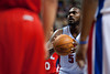 Mar 9, 2012; Auburn Hills, MI, USA; Detroit Pistons forward Jason Maxiell (54) shoots a free throw during the second half against the Atlanta Hawks at The Palace. Mandatory Credit: Tim Fuller-US PRESSWIRE