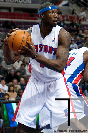 Mar 9, 2012; Auburn Hills, MI, USA; Detroit Pistons center Ben Wallace (6) during the first quarter against the Atlanta Hawks at The Palace. Mandatory Credit: Tim Fuller-US PRESSWIRE