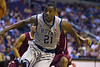 Georgetown Hoyas Basketball vs IUPUI (11/28/11) : The Georgetown Hoyas Men's Basketball team improved their record to 5 wins against only one loss with a victory over Indiana University-Purdue University Indianapolis Jaguars (IUPUI) at the Verizon Center on Monday, November 28, 2011.  The game was far closer than the final score of 81-58 would indicate. The Hoyas led by only a single point after the first half. Junior forward Hollis Thompson of the Hoyas finished with 21 points and 10 rebounds while sophomore forward Nate Lubick set a career high with 14 rebounds.  The Jaguars' record fell to 2-5.  [ Click on the SLIDESHOW bar on the far right for a full screen presentation ]