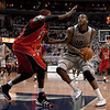 "Georgetown Hoyas vs Rutgers basketball (1-23-10) : The 12th  ranked Hoyas made it an easy win on Saturday, Jan 23, 2010 against the  Rutgers Scarlet Knights. The final score was 88-63. The game was played at the Verizon Center. The Hoyas dominated throughout, shooting 63 percent from the field. Greg Monroe led the scoring with 21 points. He also had 14 rebounds and 6 assists.  [ FOR FULL SCREEN PRESENTATION CLICK THE ""SLIDESHOW"" BAR ON RIGHT ]"