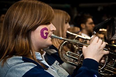Nicole Cronin on the trumpet